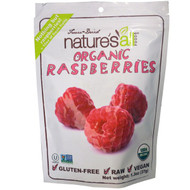 3 PACK of Natierra Natures All , Organic Freeze-Dried, Raspberries, 1.3 oz (37 g)