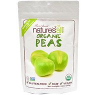 3 PACK of Natierra Natures All , Organic Freeze-Dried, Peas, 2.2 oz (62 g)