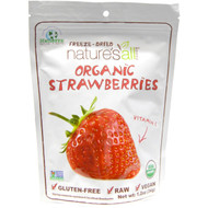 3 PACK of Natierra Natures All , Organic Freeze-Dried, Strawberries, 1.2 oz (34 g)
