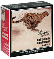 3 PACK of Light Mountain, Organic Natural Hair Color & Conditioner, Auburn, 4 oz (113 g)