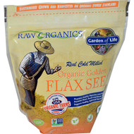 3 PACK of Garden of Life RAW Organics Organic Golden Flax Seed -- 14 oz