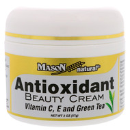 3 PACK of Mason Natural, Antioxidant Beauty Cream with Vitamin C, E, and Green Tea, 2 oz (57 g)