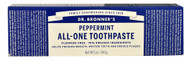 Dr. Bronners, All-One Toothpaste,  Peppermint - 5 oz (5 PACK)