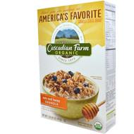 3 PACK of Cascadian Farm, Organic Oats & Honey Granola Cereal, 16 oz (453 g)