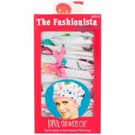 3 PACK OF Betty Dain Creations, The Fashionista Collection, Diva Shower Cap, 1 Shower Cap