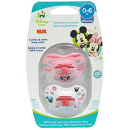 3 PACK OF NUK, Disney Baby, Minnie Mouse Orthodontic Pacifier, 0-6 Months, 2 Pacifiers