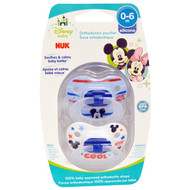 3 PACK OF NUK, Disney Baby, Mickey Mouse Orthodontic Pacifier, 0-6 Months, 2 Pacifiers