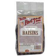 3 PACK of Bobs Red Mill, Sun Dried Raisins, 16 oz (453 g)