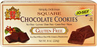 Jo-Sefs Gluten Free Square Cookies Chocolate - 8 oz (5 PACK)
