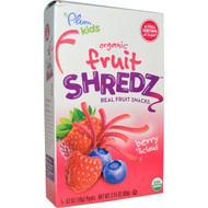 Plum Organics, Kids, Fruit Shredz, Berrylicious, 5 Packs, .63 oz (18 g) Each