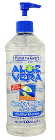Fruit of the Earth, Aloe Vera Crystal Clear Aloe Gel Healing Therapy - 20 oz
