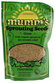 Mumms, Organic Sprouting Seeds Fenugreek - 8.8 oz (5 PACK)