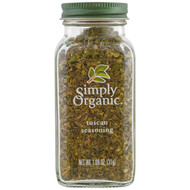3 PACK OF Simply Organic, Organic, Tuscan Seasoning, 1.09 oz (31 g)