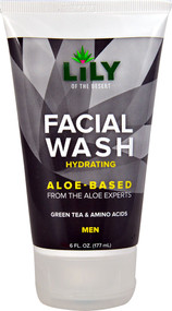 5 PACK of Lily of the Desert Facial Wash Hydrating Aloe-Based for Men - 6 fl oz