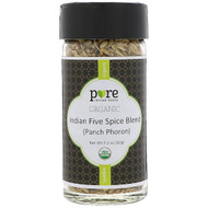 3 PACK OF Pure Indian Foods, Organic Indian Five Spice Blend (Panch Phoron), 2.2 oz (62 g)
