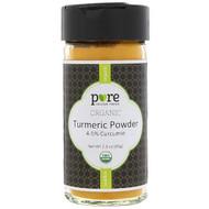 3 PACK OF Pure Indian Foods, Organic Turmeric Powder, 2.3 oz (65 g)