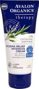 5 PACK of Avalon Organics Therapy Eczema Relief Intensive Cream - 3 fl oz