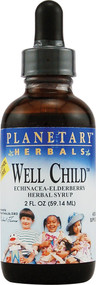 3 PACK of Planetary Herbals Well Child Echinacea-Elderberry Herbal Syrup -- 2 fl oz