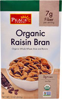 Peace Cereal Organic Raisin Bran Cereal - 11 oz (5 PACK)