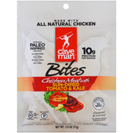 3 PACK of Caveman Foods, Bites, Chicken Meat with Sun Dried Tomato & Kale, 2.5 oz (71 g)