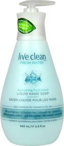 3 PACK of Live Clean, Hydrating Liquid Hand Soap, Fresh Water, 17 fl oz (500 ml)