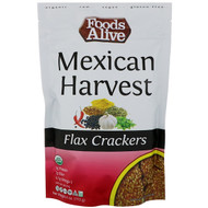 3 PACK OF Foods Alive, Flax Crackers, Mexican Harvest, 4 oz (113 g)