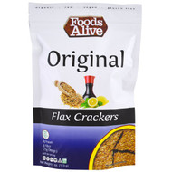 3 PACK of Foods Alive Organic Flax Crackers Original -- 4 oz