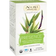 3 PACK OF Numi Tea, Organic Tea, Herbal Teasan, Presence, No Caffeine, 16 Tea Bags, 1.35 oz (38.4 g)