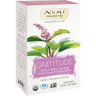 3 PACK OF Numi Tea, Organic Tea, Herbal Teasan, Gratitude, No Caffeine, 16 Tea Bags, 1.35 oz (38.4 g)