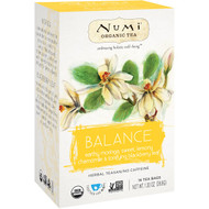 3 PACK OF Numi Tea, Organic Tea, Herbal Tea, Balance, 16 Tea Bags, 1.30 oz (36.8 g)