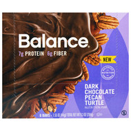 Balance Bar, Nutrition Bar, Dark Chocolate Pecan Turtle, 6 Bars, 1.55 oz (44 g) Each
