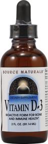 3 PACK of Source Naturals Vitamin D-3 Liquid -- 2 fl oz