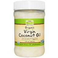 Now Foods, Real Food, Organic, Virgin Coconut Oil, 12 fl oz (355 ml)