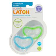 Munchkin, Latch, Lightweight Pacifiers, 0 + Months, 2 Pacifiers