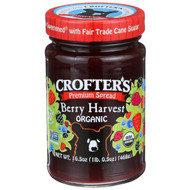 3 PACK of Crofters Organic, Premium Spread, Berry Harvest Organic, 16.5 oz (468 g)