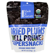 3 PACK of Made in Nature, Organic Dried Plums, Well Pruned Supersnacks, 6 oz (170 g)