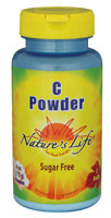3 Pack of Nature's Life Vitamin C Powder Sugar Free - 4 oz