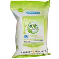 3 PACK OF Eat Cleaner, Grab N Go Fruit + Vegetable Wipes, 32 Wipes, 7 in X 8 in Each