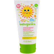 3 PACK OF BabyGanics, Mineral Based Sunscreen Lotion, SPF 50+, 2 oz (59 ml)