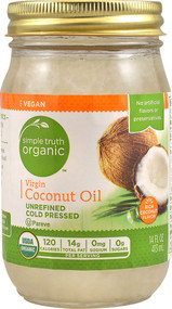 3 PACK of Simple Truth Organic Virgin Coconut Oil -- 14 fl oz