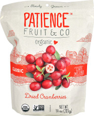 Patience Fruit & Co Organic Dried Cranberries - 10 oz