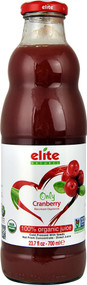 Elite Naturel 100% Organic Juice  Only Cranberry - 23.7 fl oz