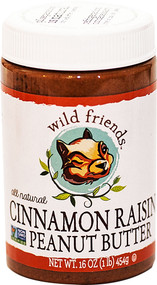 Wild Friends, Peanut Butter,  Cinnamon Raisin - 16 oz