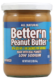 Better N Peanut Butter, Low Sodium Creamy Peanut Butter - 16 oz