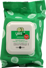 Yes to, Soothing, Hypoallergenic Facial Wipes, Cucumbers, 30 Wipes