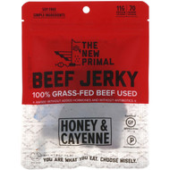 3 PACK OF The New Primal, Beef Jerky, Honey & Cayenne, 2 oz (56 g)