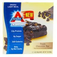 Atkins, Advantage Bar, Triple Chocolate - 5 Bars (5 PACK)