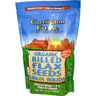 5 PACK of Carrington Farms, Organic Milled Flax Seeds, 14 oz (396 g)