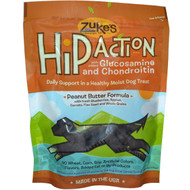 Zukes Hip Action Dog Treats Peanut Butter - 6 oz