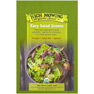 High Mowing Organic Seeds, Easy Salad Greens, Organic Seed Collection, Variety Pack, 3 Packets